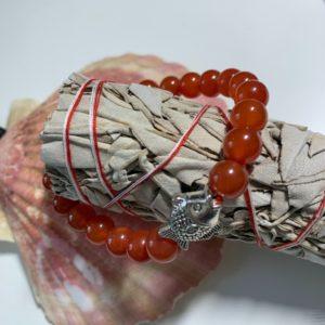 Bracelet en Cornaline en Pierre Naturelle - therapeute energeticienne