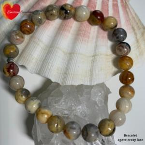 Bracelet en pierre naturelle agate crazy- therapeute energeticienne