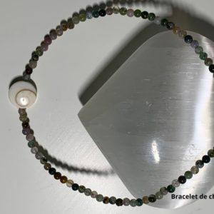 Bracelet de Cheville en Pierre Naturelle en Agate- therapeute energeticienne