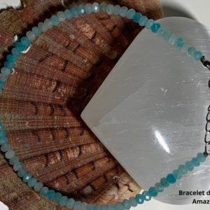 Bracelet de Cheville en amazonite - therapeute energeticienne