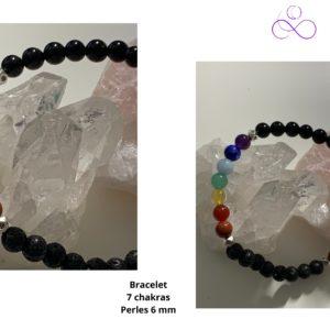 Bracelet double 7 chakras - théraêute energeticienne